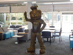 Big Blue Statue in Webb University Center, 2017
