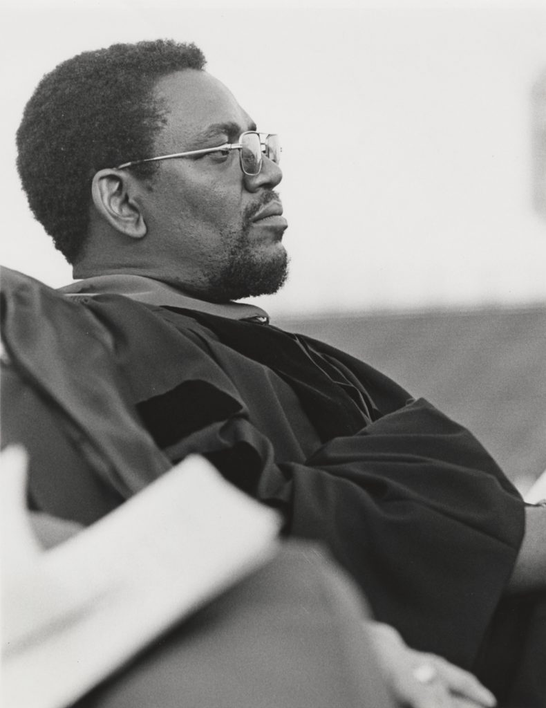 Milton Reid, Board of Visitors Member, at Commencement, circa 1970-1973