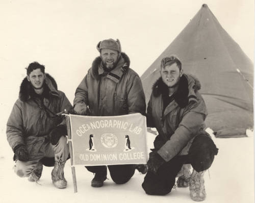 Dr. Jacques Zaneveld with Students in Antarctica, 1965