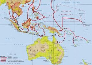 Japanese advances in the Pacific.